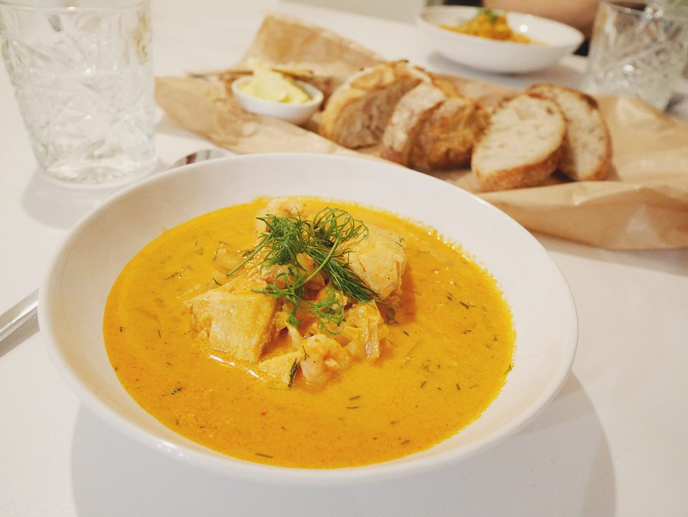 Spicy fish soup with red curry jennifer berg for Spicy fish soup